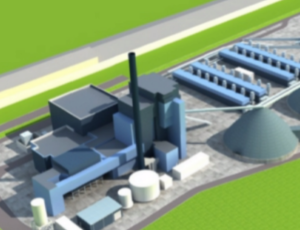 Biomass powered energy plant in Mayo