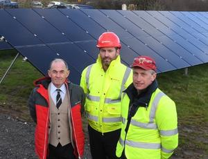 Martin Beirne, Polecat Springs, pictured with Veolia's Cormac Nevin and Sean Monaghan