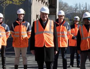 Veolia Chairman Antoine Frerot on a site visit