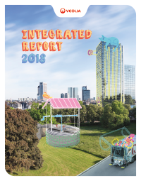Cover of Veolia's 2018 Integrated Report